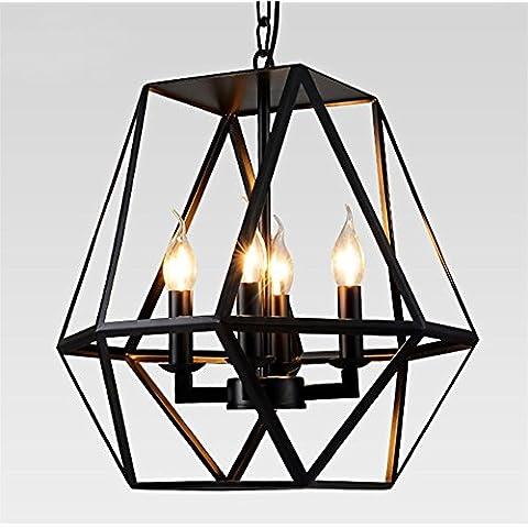 CAC Vintage retrò Edison luce della lampadina lampadario Nordic Loft regolabile antichi DIY E14 Arte lampada da soffitto luce di fissaggio