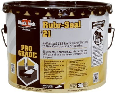 3.5GAL Rubb Roof Cement by Black Jack -