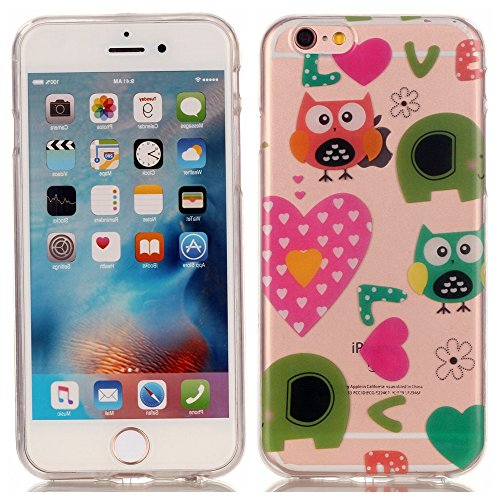 Voguecase® Per Apple iPhone 6 Plus/6S Plus 5.5, Custodia Silicone Morbido Flessibile TPU Custodia Case Cover Protettivo Skin Caso (Love gufo 01) Con Stilo Penna