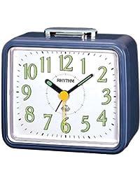 Rhythm Blue sqaure Basic bell alarm clokcs 10x12x8Cm