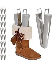 Jago - Embauchoirs pour bottes en plastique - adaptés au bottes hautes (jusqu'à 38 cm) – set de 9 paires – QUANTITÉ AU CHOIX