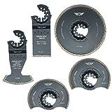 5x topstools stlkd5gemischt Diamant Mörtel Klingen für Bosch Fein Starlock Plus Max AUTOCLIC Multi Tool Zubehör