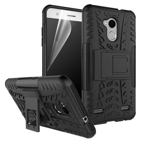 betterfon | Outdoor Handy Tasche Hybrid Case Schutz Hülle Panzer TPU Silikon Hard Cover Bumper für ZTE Blade V7 Lite Schwarz