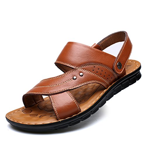 Herren Sandaletten/Atmungsaktive Schuhe/ massage Schuhe/Badeschuhe/Anti-Rutsch Komfort casual Schuhe Leder C