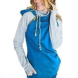 Donna Maglie Tumblr Felpe - hibote Ragazza / Donna Autunno Invernale Felpe con Cappuccio Pullover Manica Lunga Top Camicetta