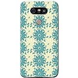 Fancy A Snuggle Bleu et crème abstrait Patterns Coque de protection/Coque rigide pour téléphone portable LG, plastique, Interlocked Blue Cream Flowers, LG G5 (H850)