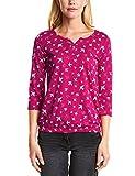 Cecil Damen T-Shirt 312446 Minna, Pink (Bright Magenta 31352), X-Large