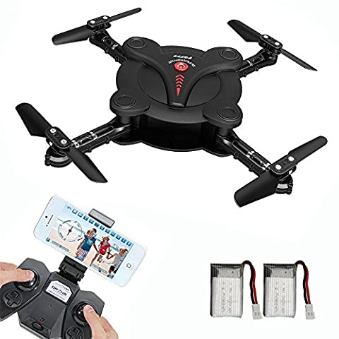 MULGORE RC Helicopter Pocket Foldable Drone 2.4Ghz 4CH 6-Axis Gyro