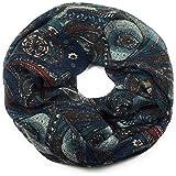 Feelinko Loop mit Paisley-Musterung Schal Loop Halstuch Schlauchschal Rundschal Tuch Damen Women blaupetrol