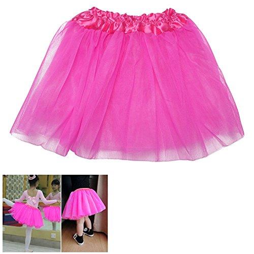 Fille Enfants Vêtements de Danse Ballet Tutu Pettiskirt Jupe Robe princesse, Rose vif