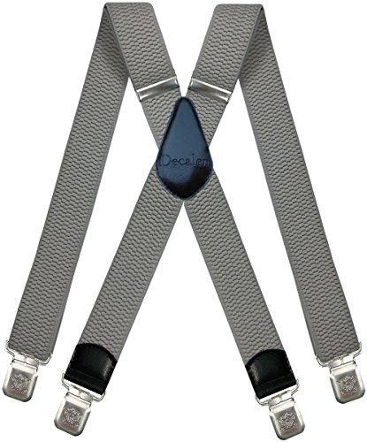 Decalen Bretelle Uomo Donna X Forma Elastici Registrabili Clip molto forti Colori Nero Blu Rosso