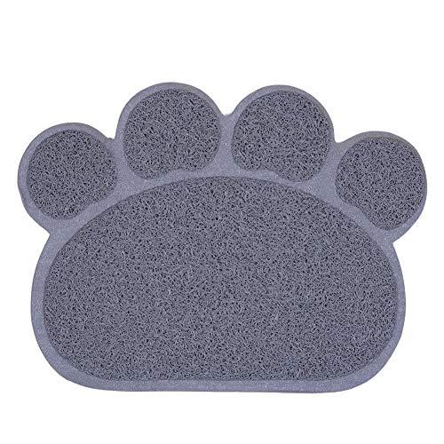 Mekta Multifunktionale Pfotenform Hund Katzenstreu Matte Haustier Welpe Kitty Teller Futterschale Tischset Rutschfeste Wasserdichte Unterlage