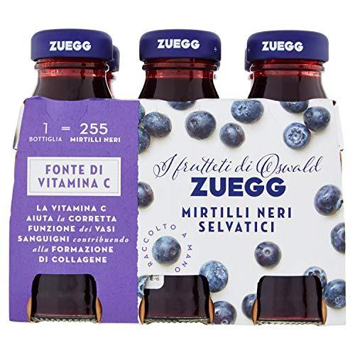Zuegg Nettare Mirtilli Neri Selvatici, Contiene Vitamina C Antiossidante - 6 x 125 ml