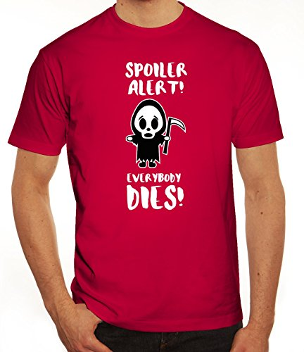 Serien Herren T-Shirt mit Spoiler Alert Motiv von ShirtStreet Sorbet