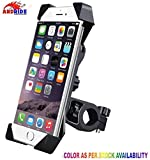 #4: Andride Universal Bike Holder 360 Degree Rotating Bicycle Holder Motorcycle cell phone Cradle Mount Holder for All Size Mobile Phones