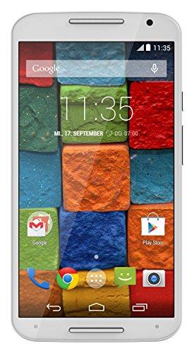 Motorola Moto X 2. Generation Smartphone (13,2 cm (5,2 Zoll) Full HD-Display, Touchscreen, 13 Megapixel Kamera, WiFi, 16GB interner Speicher, Android KitKat 4.4.4) weiß/bambus (Moto Der Generation Zweiten E)