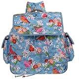 Blossom Birds M Shoulder Bag Blue