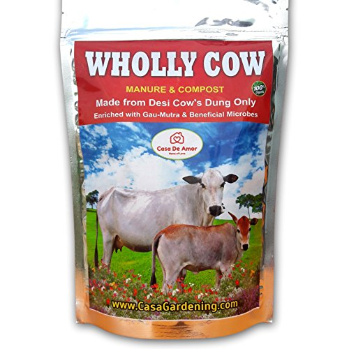 Casa De Amor Wholly Cow Manure & Compost Made From Desi Cows' Dung Only, 1 Kg