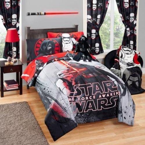 Star Wars Kylo REN Jungen Kids Twin wendbar Tröster & Tabelle Set (4Stück Bett in einer Tasche) + Homemade Wax Melt (Tasche Tröster Bettwäsche)