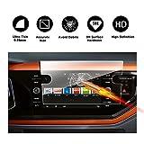 RUIYA Protecteur d'écran en Verre trempé pour système de Navigation 2018 Volkswagen Composition Media Polo 6,Film Invisible et Transparent, Cristal Clair HD,Protecteur d'écran, Anti-Rayures[8 Pouces]