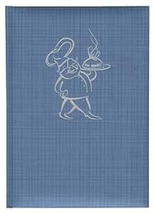 Chef Recipe Book Blue + + + 168feuilles de papier (ligné) + + + Livre de recettes + + + élégant Pierre Belvédère qualité