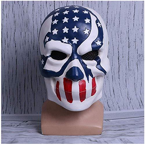 YaPin Human Clearance Plan 3 Kos Maske Flagge Maske Film um Halloween Maske Horror lustige Requisiten
