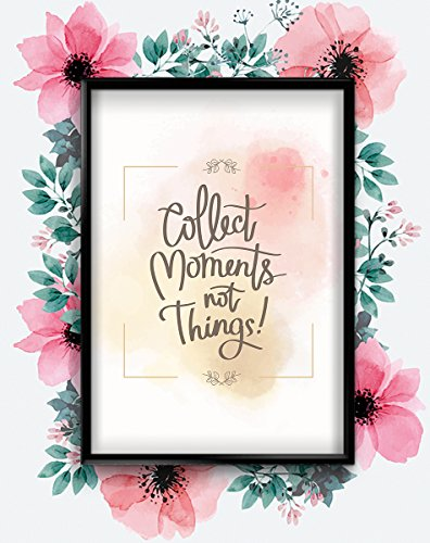Sammeln Moments Erinnerungen Motivational inspirierendes Zitat Poster Kunstdruck Wandbilder