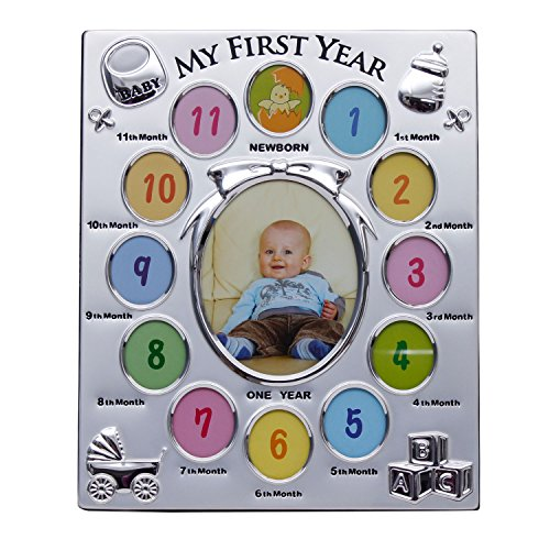 Rvold 12 Months Baby Metal Collage Photo Frame Photo Size 26 X 20
