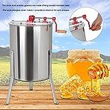 Binghotfire Professional Honigschleuder Honey Extractor Honig Extraktor 4 Waben Manual Bienenzucht Ausrüstung Imker für Anfänger Bienenzüchter Zubehör