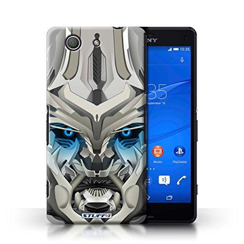 Kobalt® Imprimé Etui / Coque pour Sony Xperia Z3 Compact / Mega-Bot Jaune conception / Série Robots Mega-Bot Bleu