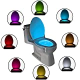 The Original Toilet Bowl Night Light: The Only Quality LED Motion & Light Sensitive Toilet Seat Light - The Perfect Colourful Bathroom Lighting – Has 9 Colour Modes Including Blue – Light Up Your Toilet Seat Today & Make Your Toilet Safer With ToiLight