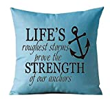 Zcfhike Believe You Can and You'Re Halfway There Cotton Linen Throw Almohada Cover Cushion Case Holiday Decorative 20'X30' Inch (3)