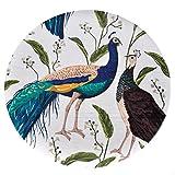CKH Chinesische Art glücklicher Pfau-Runder Teppich-Chinesische Kunst-Teppich-Wohnzimmer-Schlafzimmer-Raum-hängender Korb-Computer-Stuhl-Kissen (Size : Diameter 80cm)