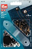 Prym 403101 Nieten MS 9 mm, 24 Stück, silber/gold