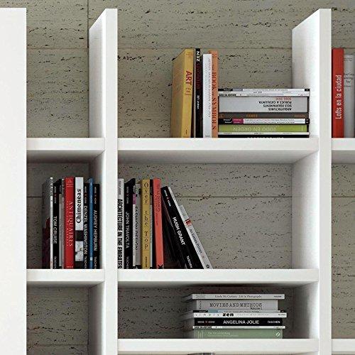 Wohnwand Bücherregal TOLEO238 Hochglanz weiß - 3