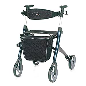 Servocare Premium Rollator, mit Tasche, mit Sitzfläche belastbar bis 136 kg