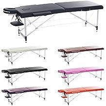 H-ROOT 2 Sezione Ultraleggera in Alluminio Portatile Tavolino Massaggio da Salotto Base Plastificante Terapia Tatoo Salon Reiki Healing Massaggio Svedese con Borsa di Transporte Gratuito (10.3KG) (blu navy)