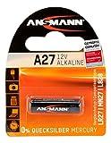 ANSMANN Alkaline Batterie A27 (12V) MN27, V27A für Garagentoröffner,  Alarmanlage, Miniradio, Funkauslöser für Kamera, Messgeräte, Klingel usw..