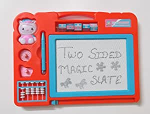 Glitter Collection Magic Slate + Black Slate Chalk Board, Color May Vary