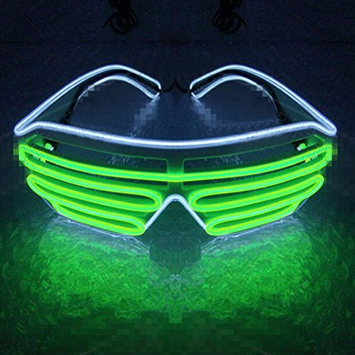 jianfeng LED Light Up Gläser beleuchtet LED Neon Brillen für Parteien, Kostüm, Ball, Disco Clubs, Haloween, Geburtstage, Festivals