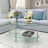 Tavolo vetro ovale arredamento casa e cucina for Amazon arredamento casa