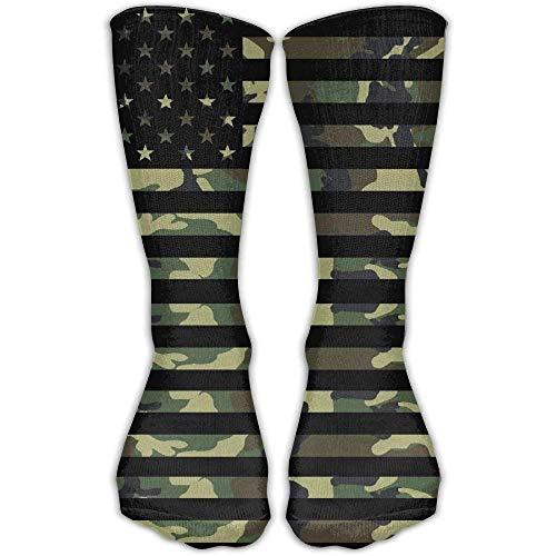 Rundafuwu American Camo Long Athletic Sockens High Running Socken Unisex 50CM (Oberschenkel Hohe Undurchsichtigen Strümpfe)