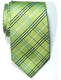 Corbata de microfibra con estampado a cuadros para hombres de Retreez