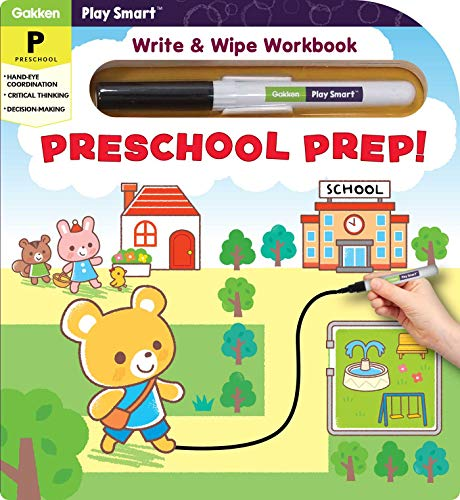 play smart preschool prep! puzzles: write & wipe workbook