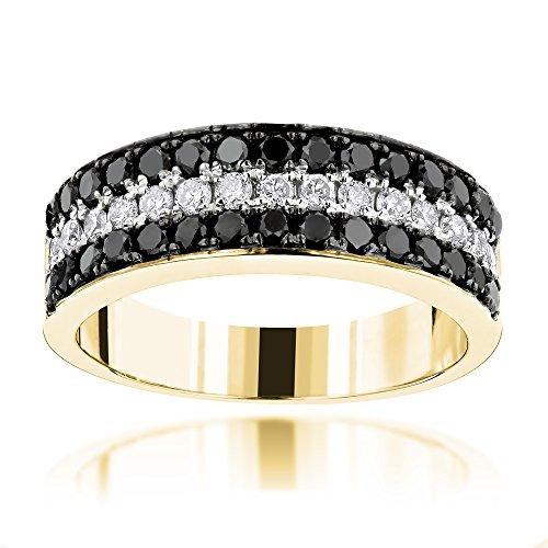 luxurman-unique-3-row-white-black-diamond-wedding-band-10k-gold-yellow-gold-size-135
