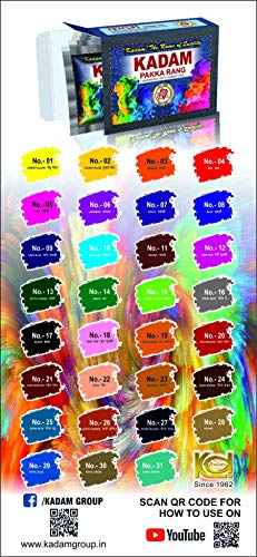 KADAM DISTRIBUTER'S Fabric Dyes Colours Pack of 10 Pouches (Shade 16, Steel Grey)