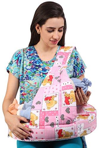 MomToBe Pink Bear Feeding Pillow - HD Foam 100% Cotton Fabric