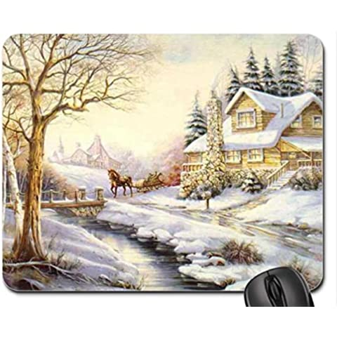 Homestead By The Stream Mouse Pad/Mouse Mat, Mousepad Houses Mouse Pad/Mouse Mat