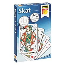Idena 6250100 Skat card game, 32 cards with French images
