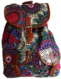 Preisvergleich für Canvas Rucksack, Damen, Mädchen für jede Gelegenheit, Stoff, florales modernes Design